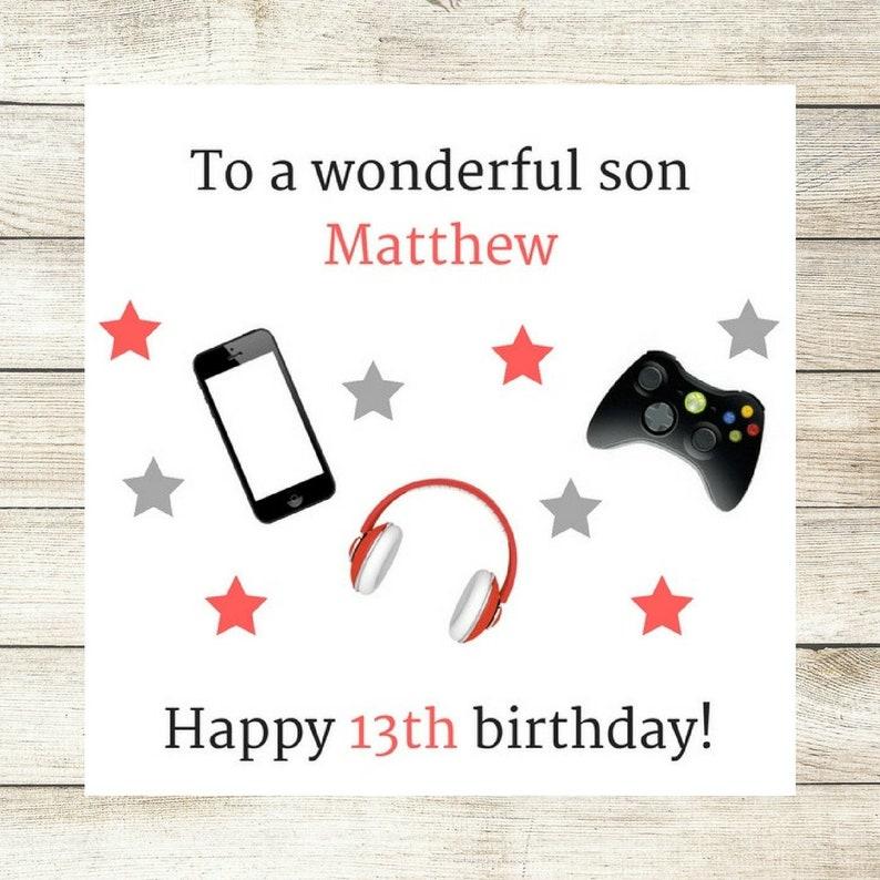 Handmade Personalised Birthday Card Male Birthday Card Son