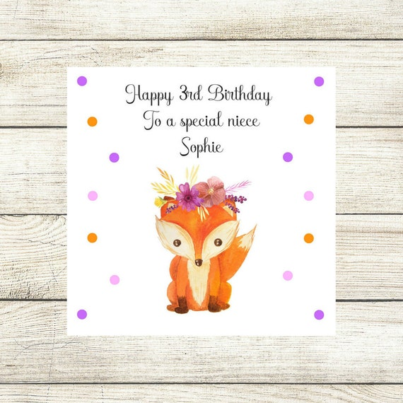Personalised Birthday Card Baby Girl Birthday Card Daughter Etsy