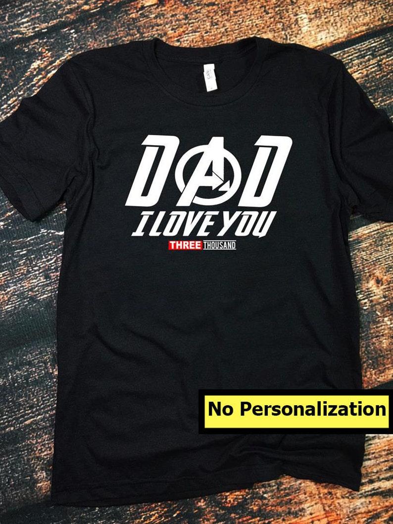 9659c9f4353c4 Personalized Custom Name We Love You 3000 Shirt, Customized Family Shirt,  Custom Fathers Gift for Dad, Mom, Grandfather, Grandpa, Grandmaa