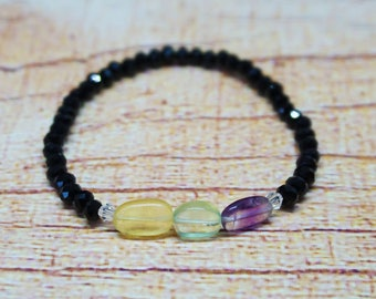 Natural Fluorite Stretchy Bracelet