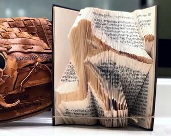 Baseball Folded Book Art