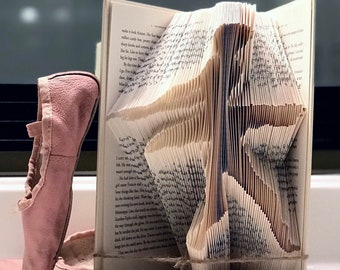 Ballerina Folded Book Art