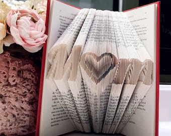 Mom Folded Book Art