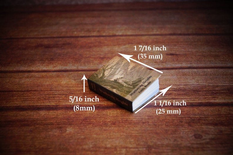 WUTHERING HEIGHTS Miniature Book Dollhouse 1:12 Scale Readable Book Emily Brontë