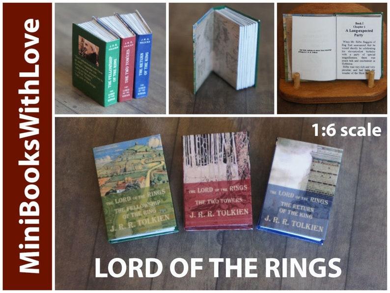 5-Volume Set Miniature J.R.R DOLLHOUSE Books Miniatures 1:12 Scale Tolkien