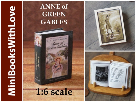 ANNE OF GREEN GABLES 1:6 Scale Readable Illustrated Book Miniature Book