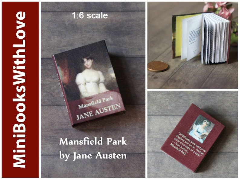"Miniature /""Jane Austen/"" 6-Volume Set for Dollhouse Books 1:12 Scale Miniatures"