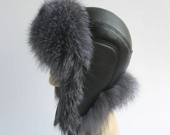 Winter Hats Mens Fur Hats Gift for him Man s cap with ears Mens hats with  Ear Flap Hat Burning hat Size large Oversized hat Warm hat Fur hat 45692779d5ab