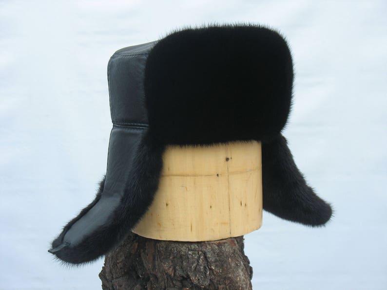 99b7d3ff479d2 Men s Fur Hat MINK fur HAT for winter Russian Shapka