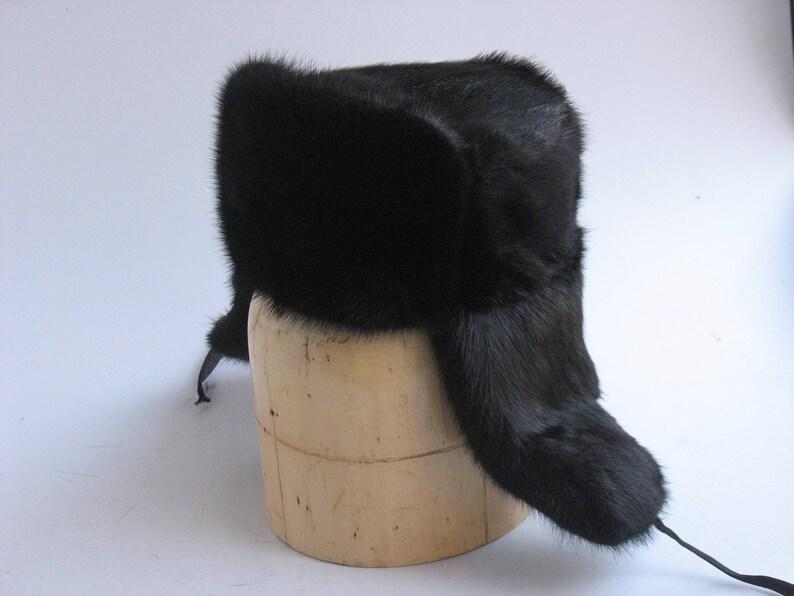 d33657485f698 Fur hat men Ushanka Russian fur hat Military muskrat hat made