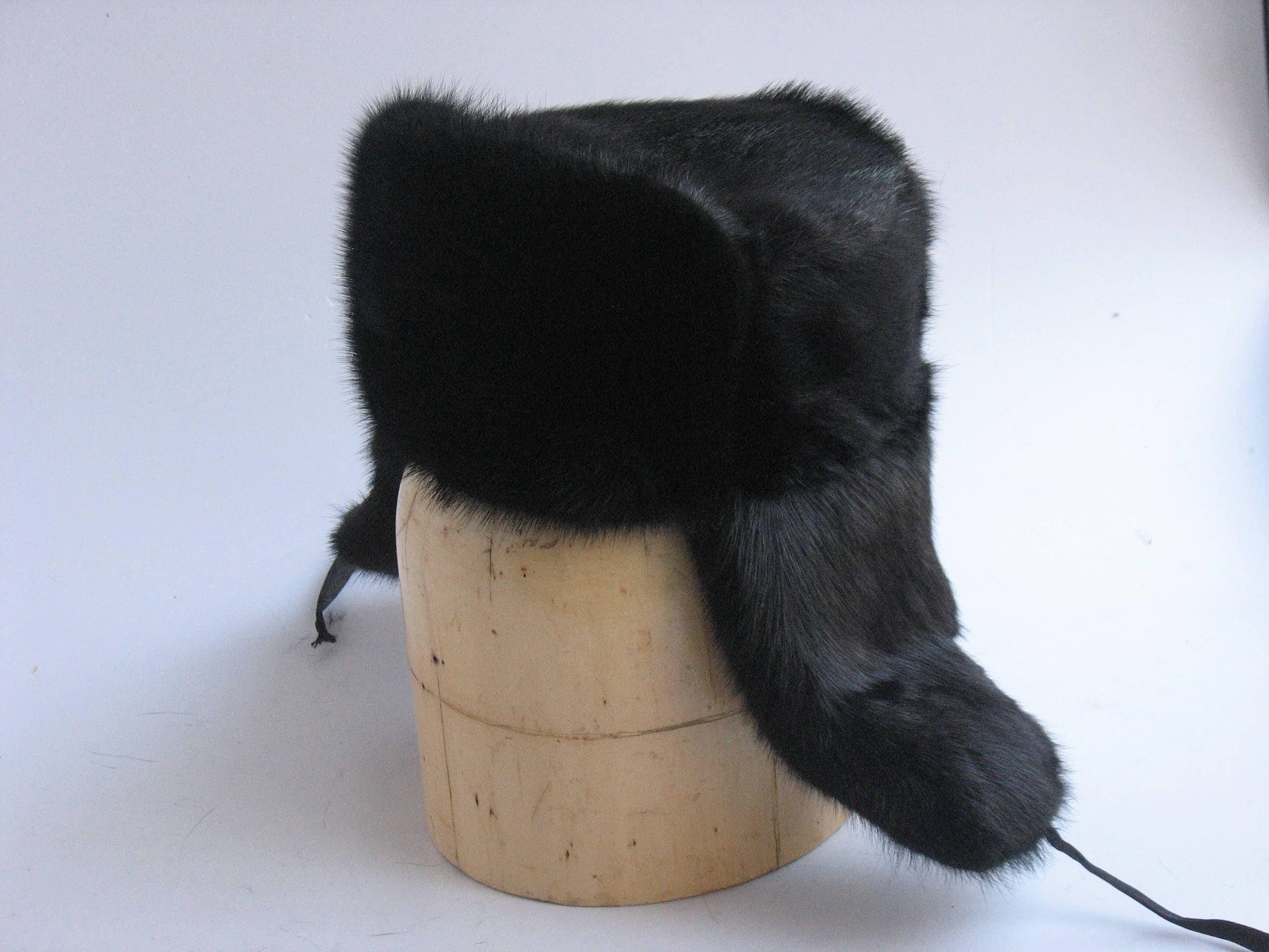 de8d1a6f78 Fur hat men Ushanka Russian fur hat Military muskrat hat made