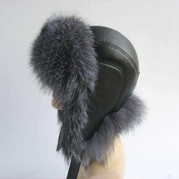Winter Hats Mens Fur Hats Gift for him Man s cap with ears  61b180761b7