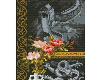 Cross Stitch Pattern Chinese Wall counted embroidery