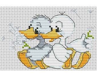 Cross Stitch pattern Ducklings counted embroidery