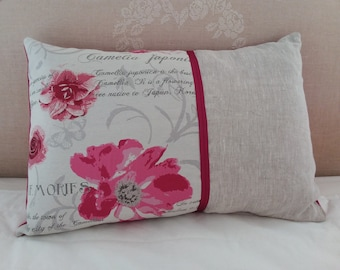 Floral shabby chic pillow