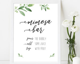 graphic regarding Free Printable Mimosa Bar Sign identify Mimosa bar printable Etsy