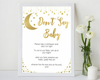 photo relating to Free Don't Say Baby Printable referred to as Dont say child activity Etsy