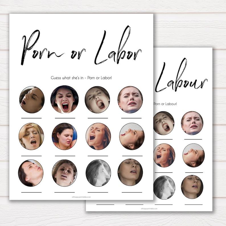 Porn or Labour Game Porn or Labor Gender Neutral Porn image 0