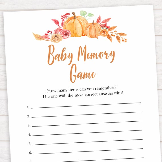 Baby Shower Who Knows Mommy Best Pumpkin Orange pk1 Instant Download Baby Shower Memory Game and Who Knows Mommy Pumpkin Fall Burlap