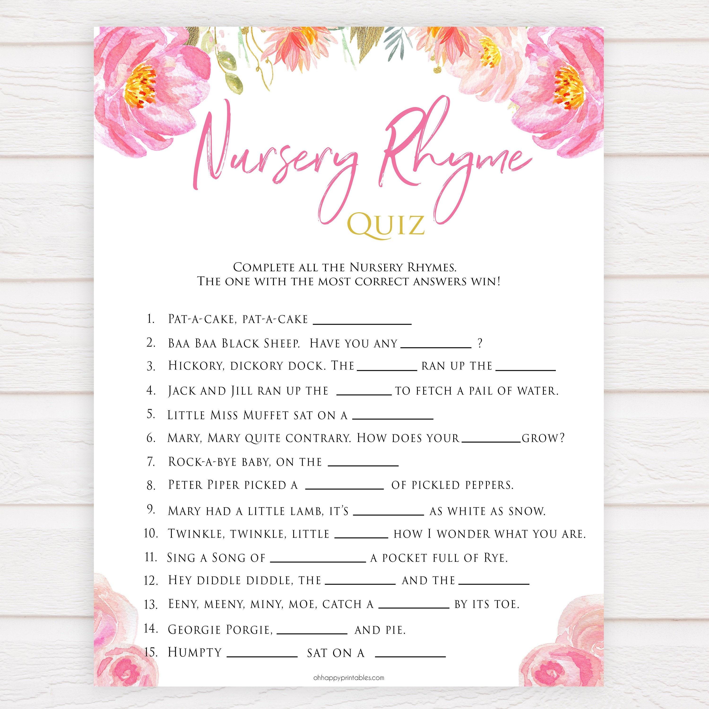 Rhyme Baby Shower Quiz Nursery GamesEtsy Printable EbD29eIWHY