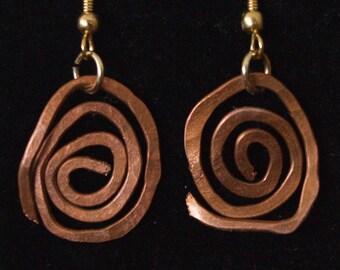 Copper Celestial Earrings