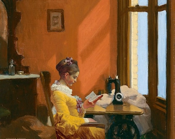 The reading by Fragonard in Hopper collage