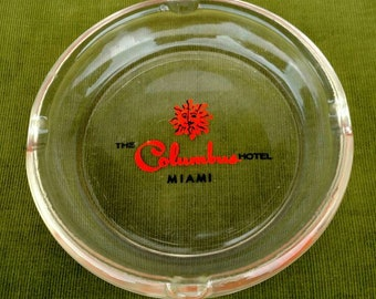 Vintage, The Columbus Hotel Miami Ashtray, Home Decore