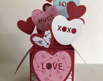 Valentine S Day Mailbox Box Card Etsy
