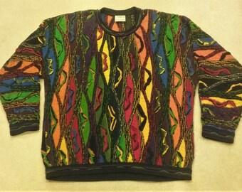 e3c7a2adbc7 90s Colorful Coogi Sweater XLT