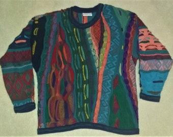 90s Coogi Colorful Cotton Sweater Medium
