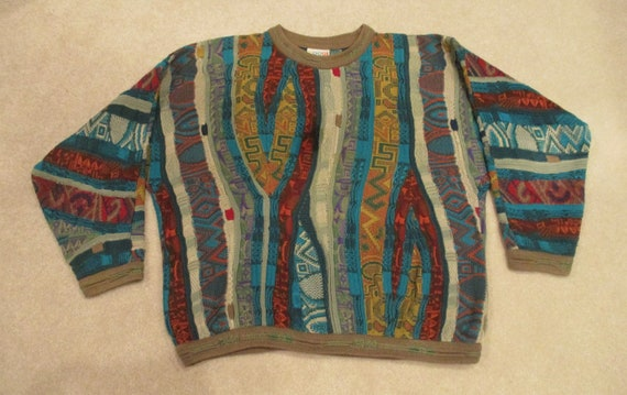 90s Coogi Colorful Abstract Sweater Lg.