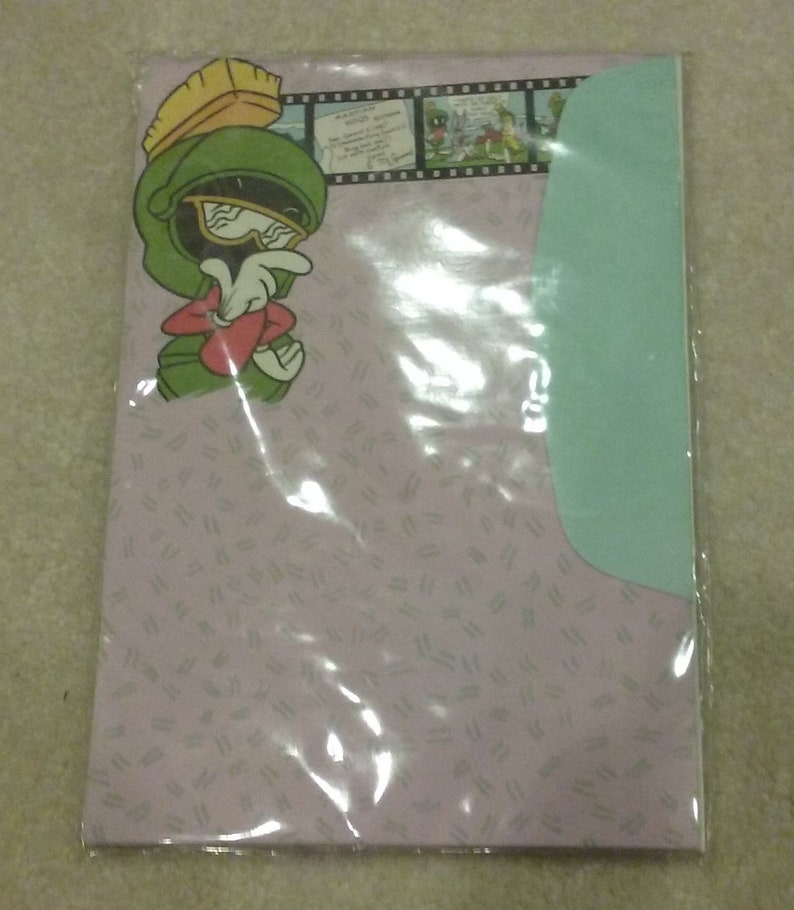 90s Looney Tunes Marvin The Martian Stationery Set