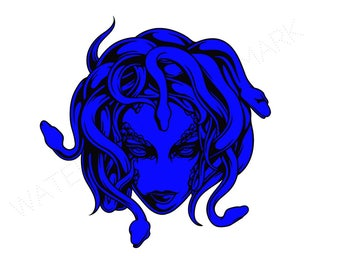 Medusa SVG & Studio 3 Cut File Stencils Decal Files Logo Cutout for Silhouette Cricut SVGS Cutouts Greek Mythology Snake Snakes Monster Face