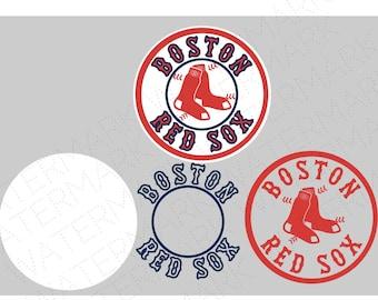 Boston SVG & Studio 3 Cut File Stencil Decal Files Logo for Silhouette Cricut SVGS Cutouts Baseball Decals Red Sox
