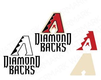Arizona SVG & Studio 3 Cut File Stencil Decal Files Logo for Silhouette Cricut SVGS Cutouts Baseball Decals Diamond Backs