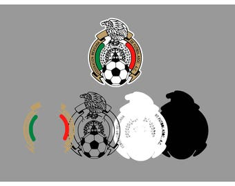 Mexico SVG & Studio 3 Cut File Stencil Decal Files Logo for Silhouette Cricut SVGS Cutouts Sport Soccer Decals Logos Mexican Team Sports