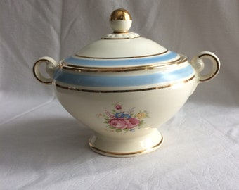 Vintage Taylor Smith /& Taylor Design Indian Summer Teapot with Wood Lid Yellow Floral Cottagecore