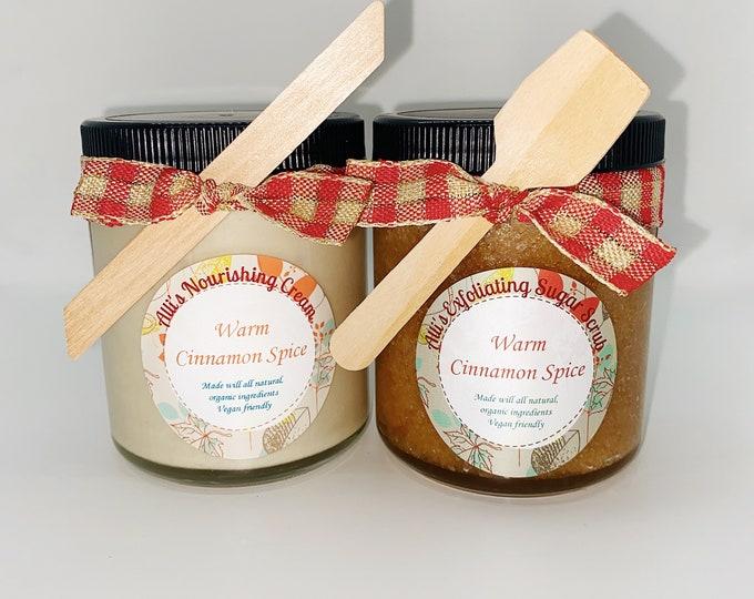 Nourishing Cream and Exfoliating Sugar Scrub Set