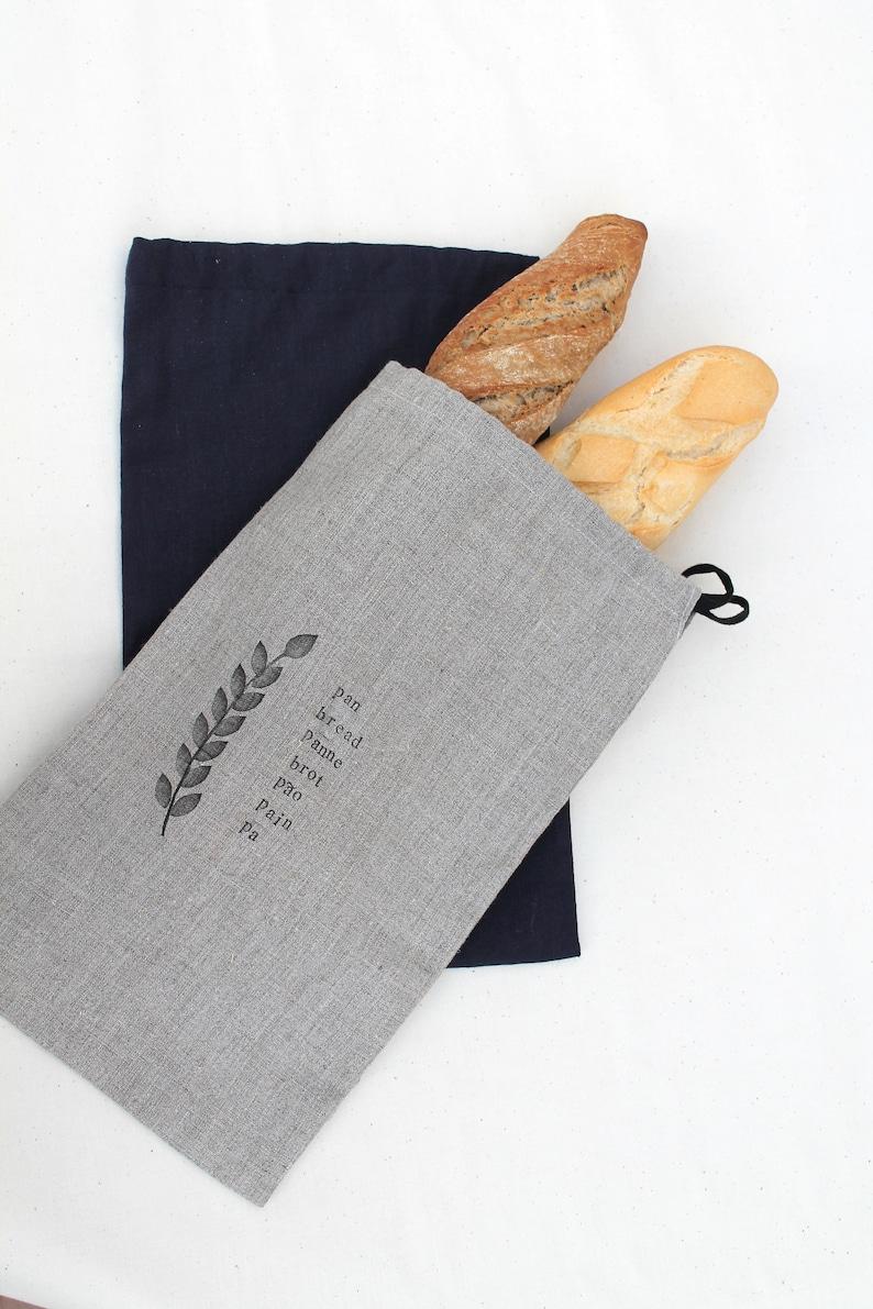 aff2e4259 Linen Bread Bag Bread Bag Bolsa Pan Bolsa Lino Pan | Etsy