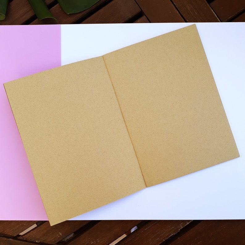 gift sketchbook A5 Notebook mandala small writing Kraft paper zentangle illustrated