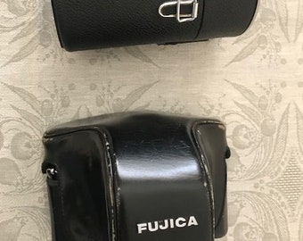 Vintage Fujica ST 801 camera with 55mm and 58-135mm lenses and case