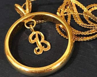 Men's 14K Vintage Gold Wedding ring, Size 9, made into a necklace