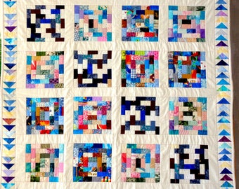 Modern Multi-Colored Quilt