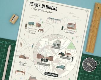Peaky Blinders Map of Birmingham