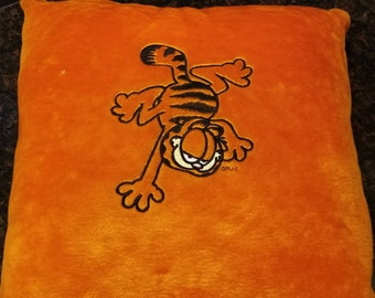 Garfield Throw Pillow, Embroidered