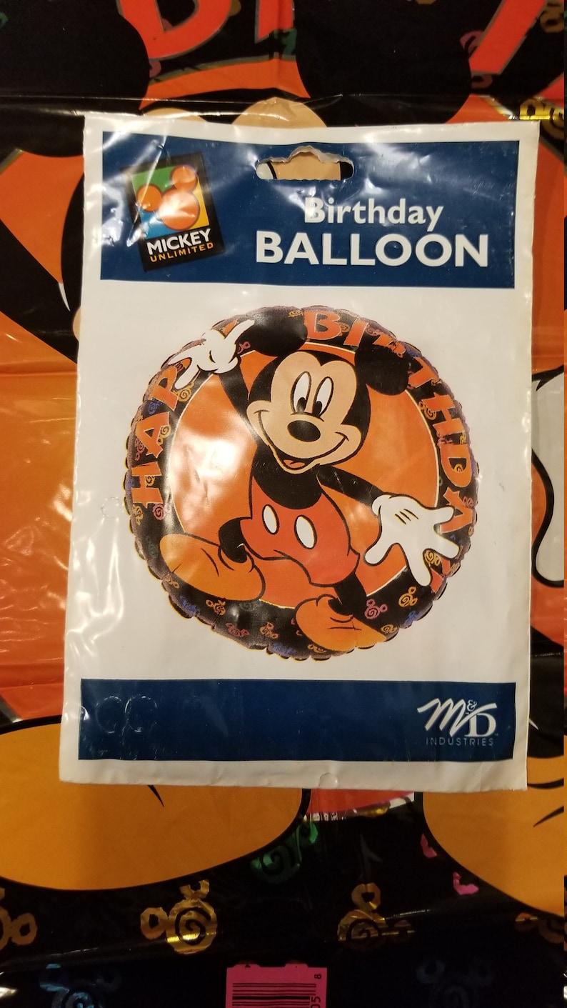 Metallic 1997 Vintage Disney Mickey Mouse Happy Birthday Balloon