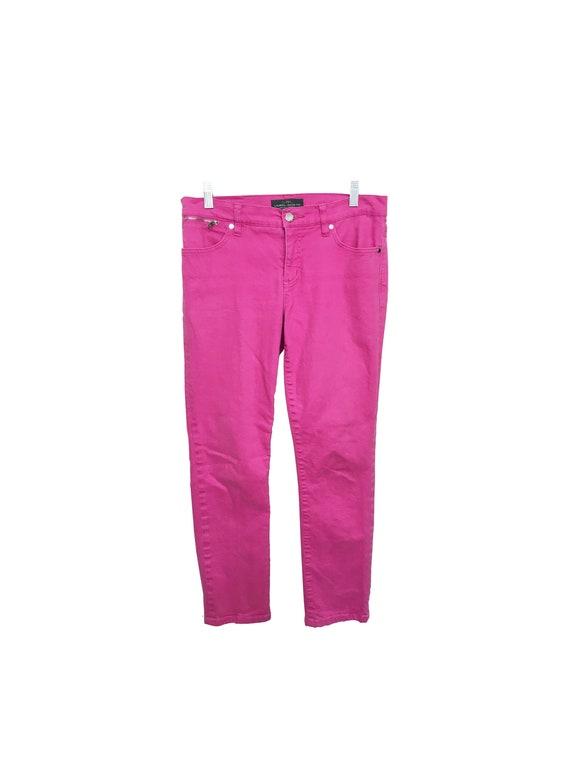 Pink High-rise Mom Denim