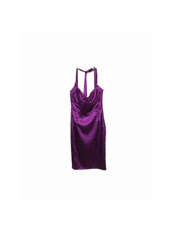 90s Halter Silk Satin Slip Dress