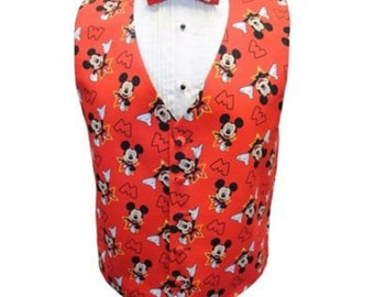 8dcbff5be760 Mickey Mouse Star Tuxedo Vest and Bow Tie