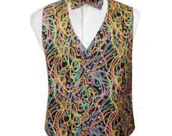 Big Easy Beads Tuxedo Vest and Bow Tie